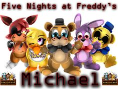 Personalized Custom NAME FNAF T-shirt Five NIghts at Freddy's Very Cute!!