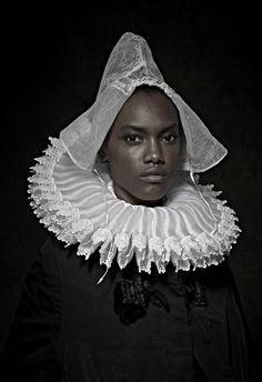 """Photographer Uses Art To Talk About Racial Politics Today - In """"Historical Correction,"""" Maxine Helfman replaces the faces of Flemish nobles with those of modern men and women of color. Female Poses, Female Art, Female Portrait, Fine Art Photography, Portrait Photography, Inspiring Photography, Glamour Photography, Kehinde Wiley, Politics Today"""