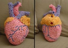 Heart model made from candy hearts :D #anatomy #heart