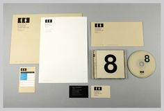 Letterhead and other collateral. I love the Bauhaus feel.