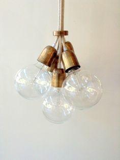 Handmade Cable Wire Bulb Chandelier Pendant Light Lamp Edison Industrial Modern   eBay