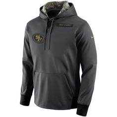 Nike San Francisco 49ers Anthracite Salute to Service Player Performance Hoodie