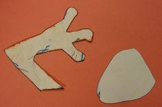 3-d lizard foot template