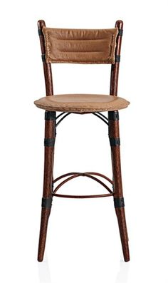 shows the Mauritius Cafe Barstool in Emu Natural from Roughing It In Style Madison