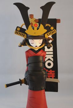 "2PetalRose's Female Samurai ""Maiko"" Resin Figure a Japanese Version of Hua Mulan?"