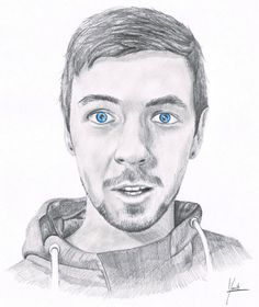 """Jacksepticeye graphite pencil drawing by Yorrit on DeviantArt"" Holy cow! This is incredible."