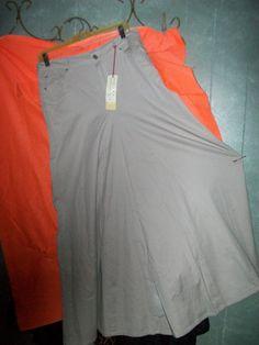 size 9/10 NWT Drama Gold beige khakis long flared Skirt