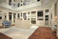 two tone his and hers walk in closet design ideas - Google Search