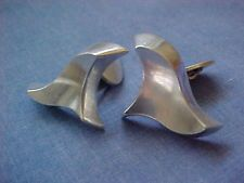 A DRAGSTED STERLING DENMARK CUFFLINKS MID-CENTURY DANISH MODERNIST SILVER 925S
