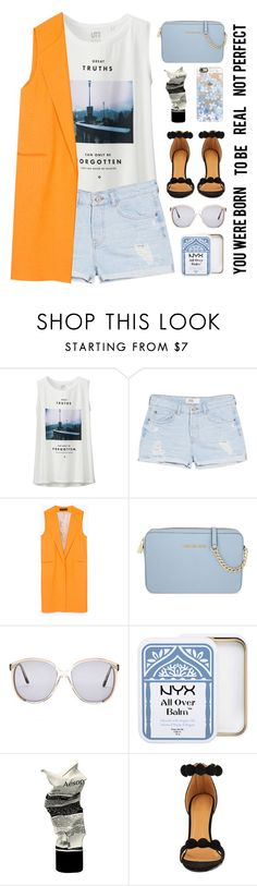 """""""Untitled #311"""" by ino-6283 ❤ liked on Polyvore featuring Uniqlo, MANGO, Zara, MICHAEL Michael Kors, Carmella, NYX, Aesop, Casetify, women's clothing and women's fashion"""