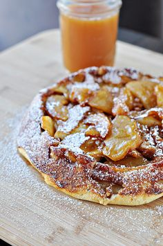 "German apple pancake - Want to impress your guests. Imagine the warm apples baked with brown sugar and cinnamon in a German Pancake . . . ""the best part of waking up"""