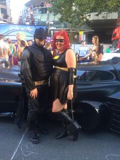 Batman, Batgirl and the Batmobile! http://www.costumecollection.com.au/womens-bat-superhero-costume.html http://www.costumecollection.com.au/superhero-and-villain-costumes/batman-costumes/the-dark-knight-muscles-batman-suit.html