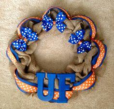 University of Florida Gator Burlap Wreath 3