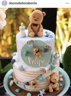 Cupcakes Decoration Ideas Baby Shower Teddy Bears Ideas For 2019 Torta Baby Shower, Idee Baby Shower, Baby Boy Shower, Baby Cakes, Baby Birthday Cakes, Teddy Bear Birthday Cake, Baby Shower Desserts, Baby Shower Parties, Baby Shower Decorations