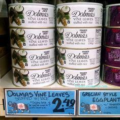 Trader Joe's Dolmas Vine Leaves Stuffed with Rice 280g  $2.49 トレーダージョーズ ドルマ 10個入り