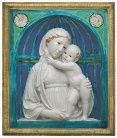 Luca della Robbia, Virgin and Child, about 1445-55, glazed terracotta. Gift of Quincy Adams Shaw through Quincy Adams Shaw, Jr., and Mrs. Marian Shaw Haughton