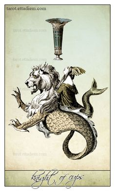 An intriguingly graphic deck.  The Isidore Tarot – A New Neo Victorian Tarot Deck- Knight of Cups
