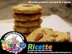 Biscotti proteici mandorle e miele