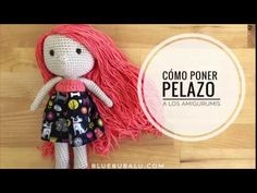 COMO PONER PELAZO A LOS AMIGURUMIS BLUE BUBALU - YouTube Knitting Videos, Crochet Videos, Crochet Patterns Amigurumi, Amigurumi Doll, Very Lovely, Diy Toys, Free Crochet, Projects To Try, Textiles