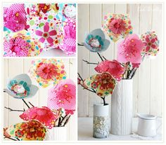 Fresh and pretty no sew fabric flowers