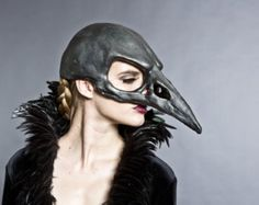 Bird skull mask in Bone finish by HighNoonCreations on Etsy