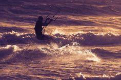 Kite-surfing Cyprus Summer 2014 Catch up soon. Cyprus, Summer 2014, Surfing, Mountains, Sunset, Kite, Travel, Outdoor, Image
