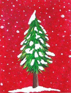 Christmas Tree Paintings On Canvas Oh christmas tree painting