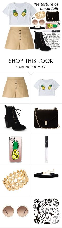 """""""The torture of small talk"""" by xnightelsax ❤ liked on Polyvore featuring Alexander Wang, Journee Collection, Valentino, Casetify, NARS Cosmetics, INC International Concepts and Chloé"""