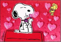 Snoopy and Woodstock Love *My all time favorite cards I like to buy for others for V-Day.