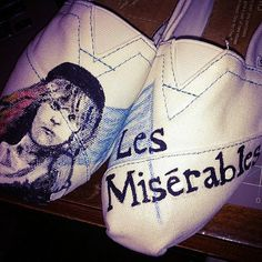 Les Miserables Custom Painted Toms Shoes French by specklesofpaint, $100.00