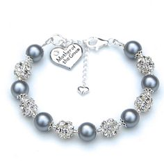 Mother of the Groom Charm Bracelet, Mother of the Bride Charm Bracelet, Pick Your Own Color