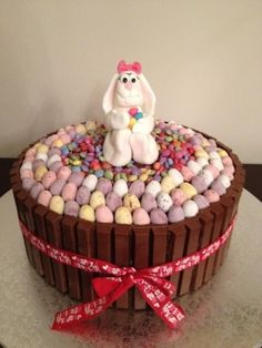 Easter Bunny Kit Kat Cake  By cycakediva on CakeCentral.com