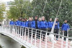 The Manchester United team go for a stroll around Manchester before Saturday's game against Southampton