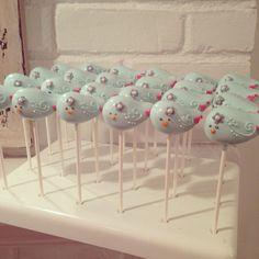 Bird blue bird Cake Pops by TheNewYorkCakepopery on Etsy, $42.00