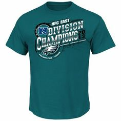 Philadelphia Eagles 2013 NFC East Division Champions T-Shirt - Midnight Green