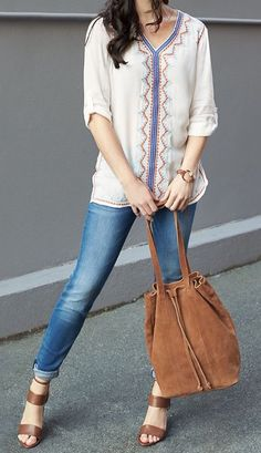 Bohemian without being frumpy- it's still tailored and chic and flattering to the body