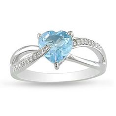 favorite and prettiest ring ever!!@Overstock - Sky blue topaz and diamond ringSterling silver jewelryClick here for ring sizing guidehttp://www.overstock.com/Jewelry-Watches/Sterling-Silver-Sky-Blue-Topaz-and-Diamond-Accent-Heart-Ring/5625696/product.html?CID=214117 $60.99