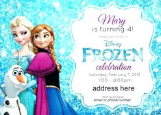 FREE Frozen Party Invitation Template Download Party Ideas And - Frozen birthday party invitation template free