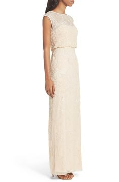 Main Image - Adrianna Papell Beaded Blouson Gown