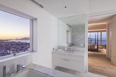 Sutro Architects #modern #highrise #glass #views #goldengate #masterbath