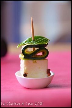 Feta e zucchine in finger food