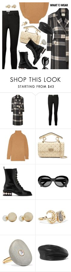 """""""What to Wear"""" by dressedbyrose ❤ liked on Polyvore featuring By Malene Birger, Current/Elliott, Marc Jacobs, Valentino, Nicholas Kirkwood, Acne Studios, Kenneth Jay Lane, Etro, CVC Stones and Eugenia Kim"""
