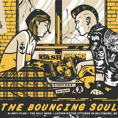 """The Bouncing Souls. Poster by El Jefe (now Rockets are Red designs ) #BouncingSouls i love the """" SIXTEEN CANDLES """" vibe"""