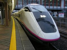 新幹線 E3系 0番代 (こまち) Japan Train, Trans Siberian Railway, Japanese S, Speed Training, Train Rides, Train Travel, Public Transport, Locomotive, Railroad Tracks