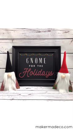 Creat your own gnomes easily with Chalk Couture, scrap wood, felt, and faux fur!