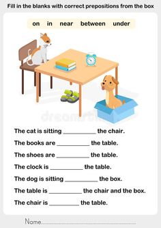 Preposition Worksheet for Kids. 20 Preposition Worksheet for Kids. Prepositions Of Place Kids English Esl Worksheets for English Grammar For Kids, Learning English For Kids, Teaching English Grammar, English Worksheets For Kids, 2nd Grade Worksheets, English Lessons For Kids, Kids English, English Activities, Grammar Lessons