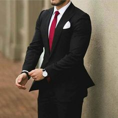 mens wedding suits design your own Men's Tuxedo Wedding, Wedding Men, Wedding Suits, Black Suit Wedding, Wedding Tuxedos, Wedding Groom, Blue Wedding, Mens Dress Outfits, Formal Men Outfit