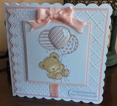 LOTV New Grandparents by Michele G - Cards and Paper Crafts at Splitcoaststampers Baby Girl Cards, New Baby Cards, Card Making Inspiration, Making Ideas, Scrapbook Cards, Baby Scrapbook, Scrapbooking, New Grandparents, Stamping Up Cards