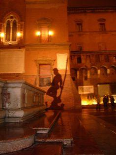 Piazza del Nettuno, Bologna. Italia
