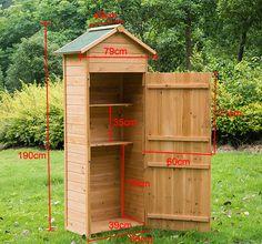 Details about New Wooden Garden Shed Apex Sheds Tool Storage Cabinet Unit Utility w/ Shelves - Gartenhaus diy